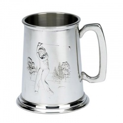 Pewter Golf Tankard - Golf Swing