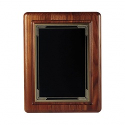 10x8in Walnut Wall Plaque with Brass Plate