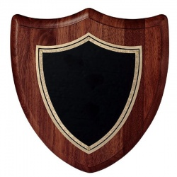 8in Walnut Wall Plaque Shield